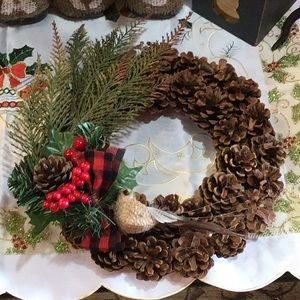 Other - Pinecone Christmas Wreath 11""